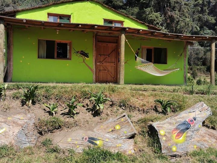 Cabaña ecológica en las faldas del Iztaccíhuatl