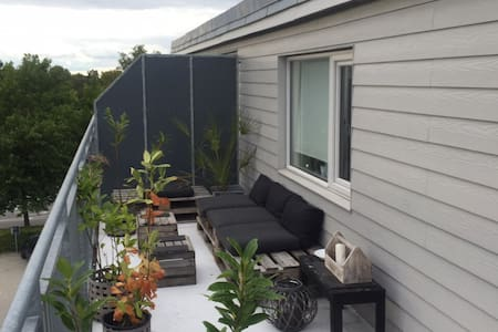 Privat rooftop apartment in City! - Roskilde
