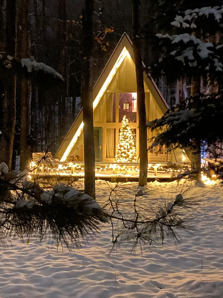 Ski Chalet in the Woods -Year round get-away fun!!
