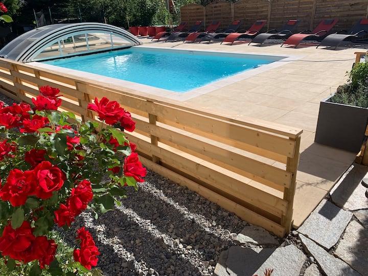 Maison T3: jardin , terrasse , spa et piscine