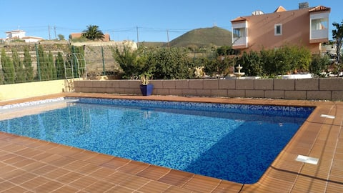 Apartment with exclusive use of large heated pool