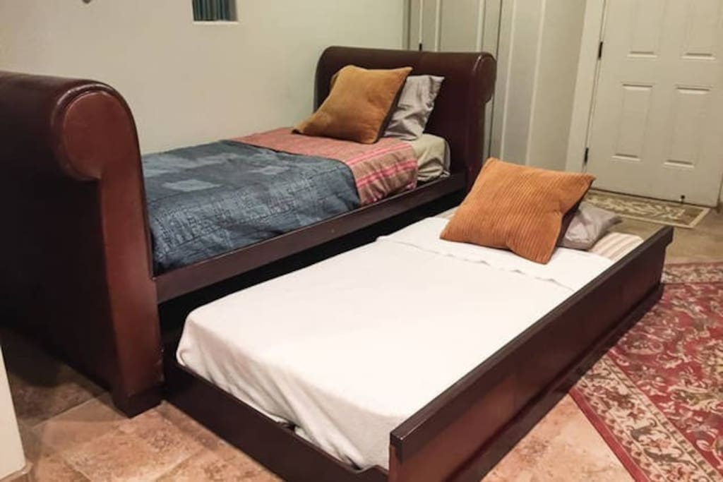 Casita Day bed has two twin mattresses