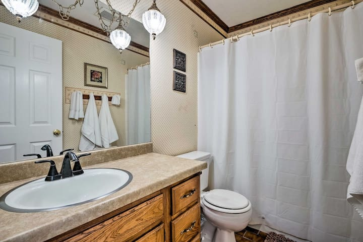 The home includes 5 full bathrooms.