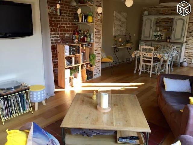 Maison atypique entièremt rénovée cadre reposant - Loos - Huis