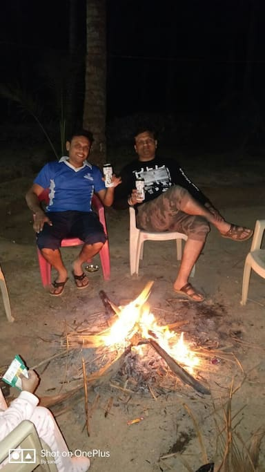 Chill out in farm at night