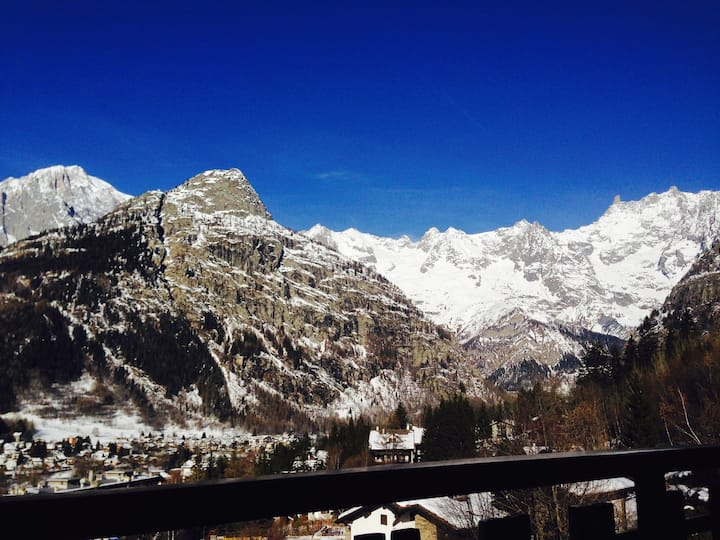 A spectacular view of Mont Blanc