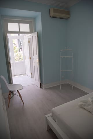 Light Blue Bedroom - Rear door