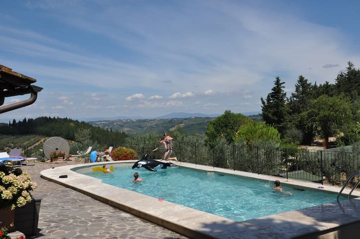 Apartment La Vite: a view in the heart of Chianti