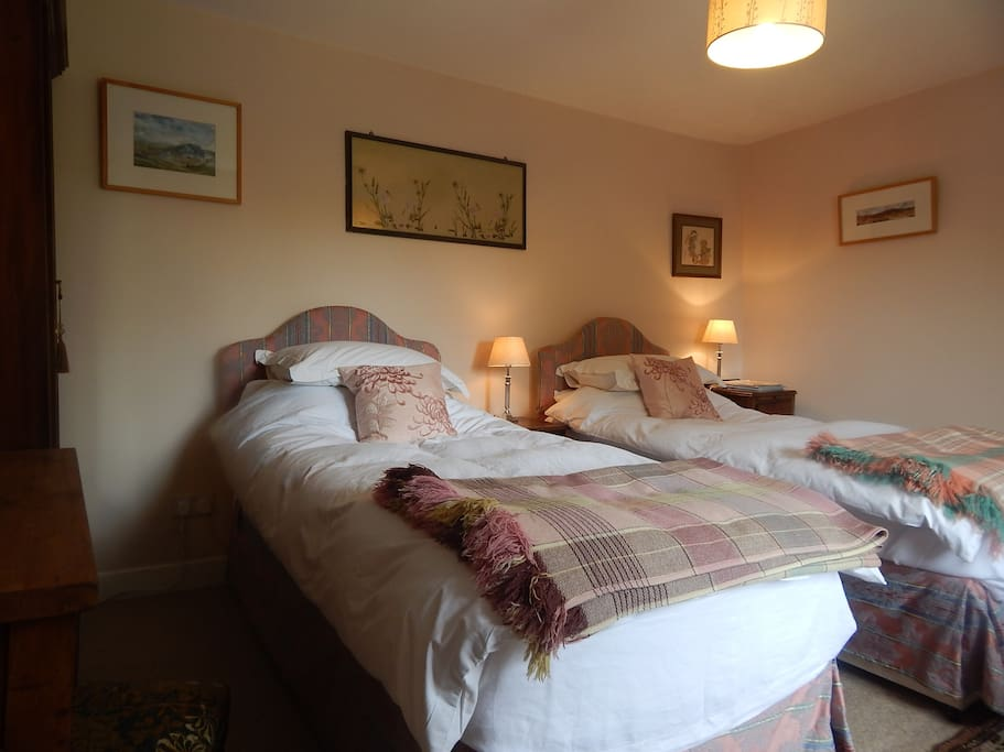 Pink Room with Twin Beds