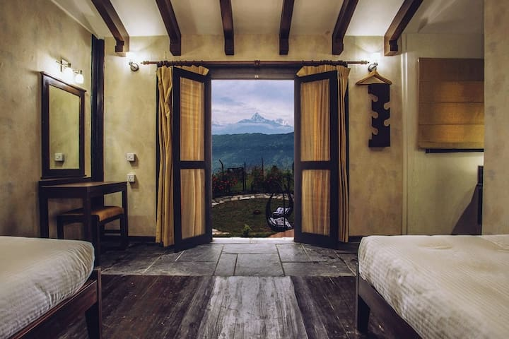 Raniban Retreat - Mountain View Room - Pokhara - Boutique-Hotel