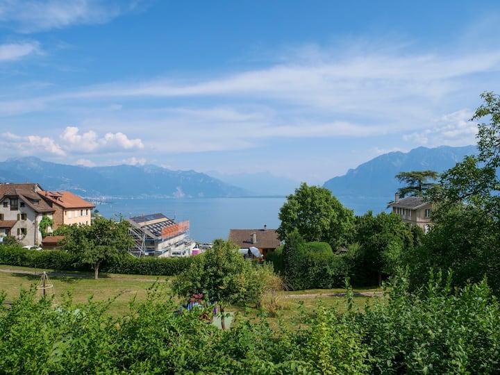 Bel appart au coeur du Lavaux. Près de Montreux.