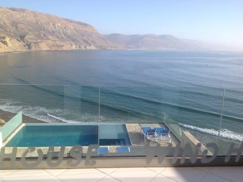 wind house vue mer avec piscine imsouane