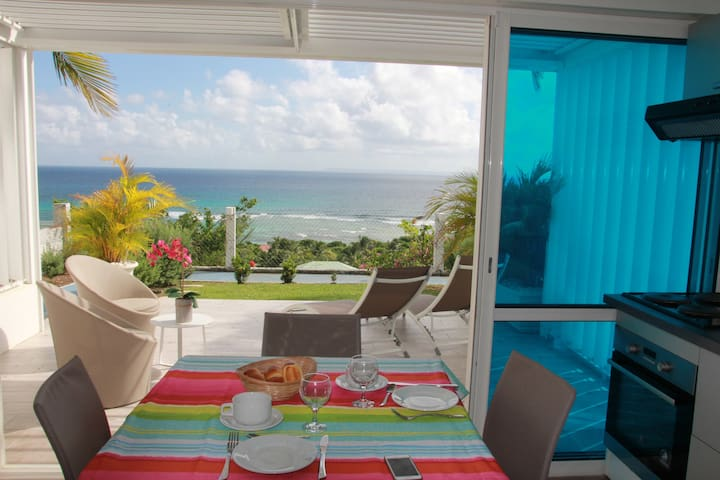 STUDIO LOVE private beach view excep - Anse des Rochers - Apartemen