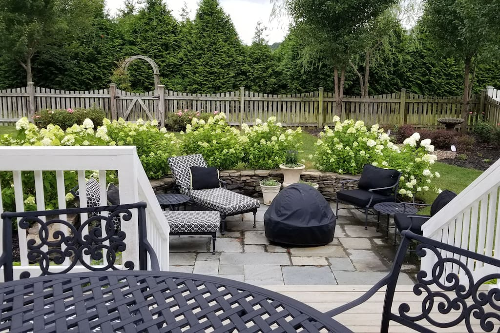 Backyard use of patio and grill