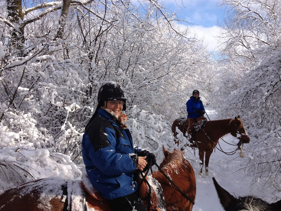 we even ride in the snow :)