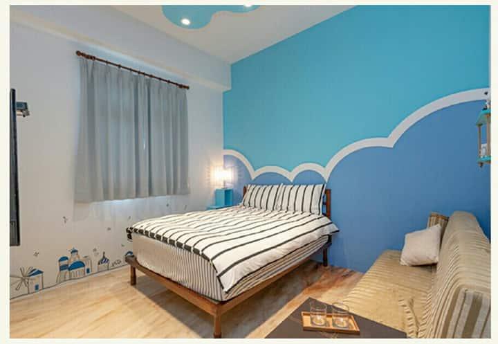 五傑客棧~藍洋洋~二人套房