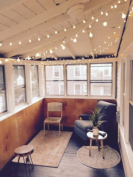 Sun Room with lots of seating for a cool hangout spot!