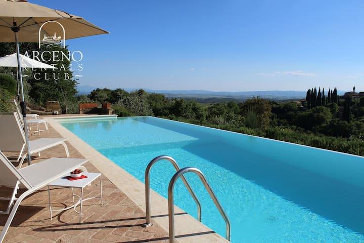 Chiusarella Arceno Rentals Club Chianti Villa Pool