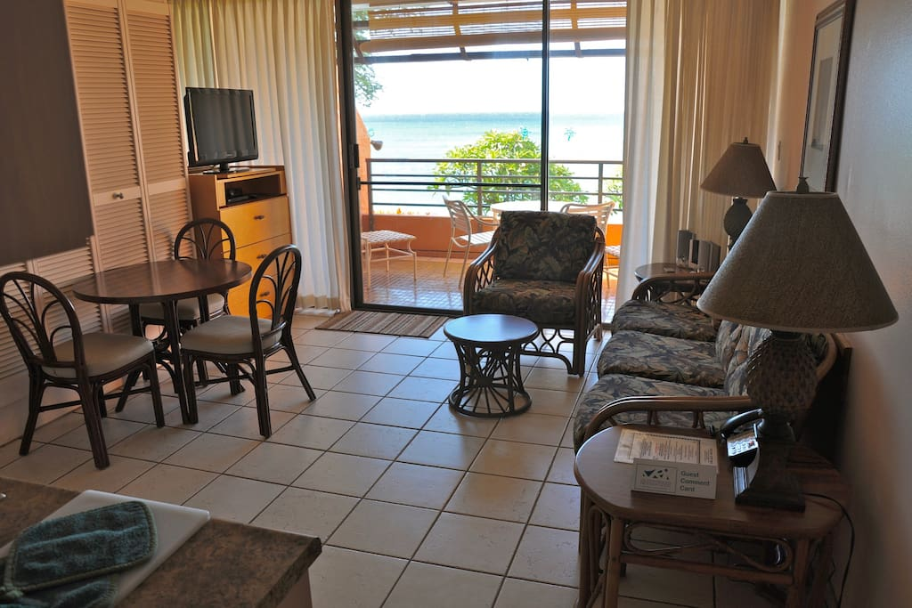 Living room and lanai