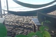 Hamacas frente al mar.