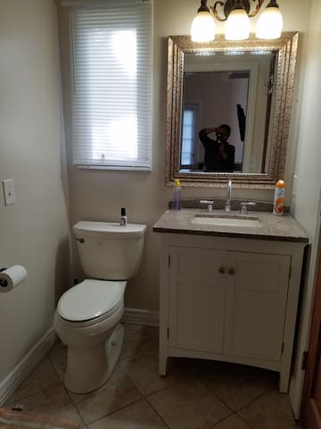 Bathroom  Sink and Toilet