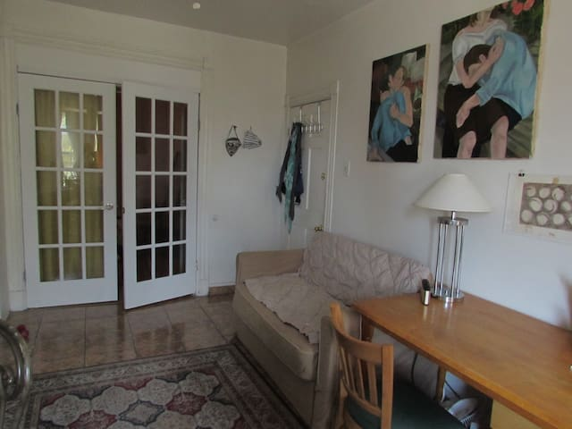 Private 2-room space (ba and kitchen shared)