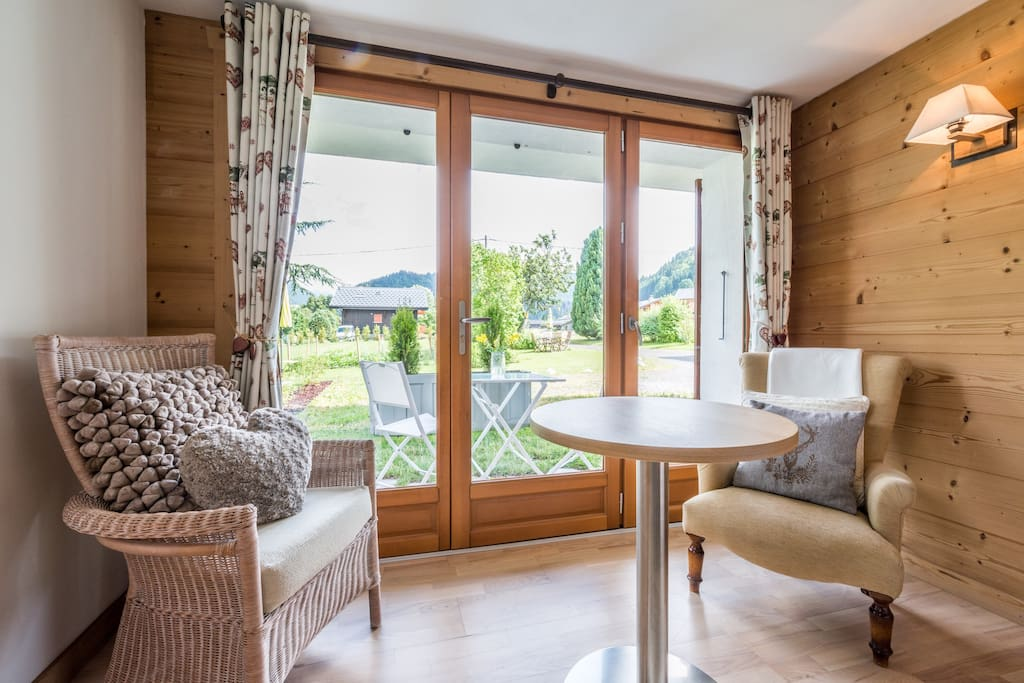 Panoramic french doors leading onto your own private patio, stunning views.