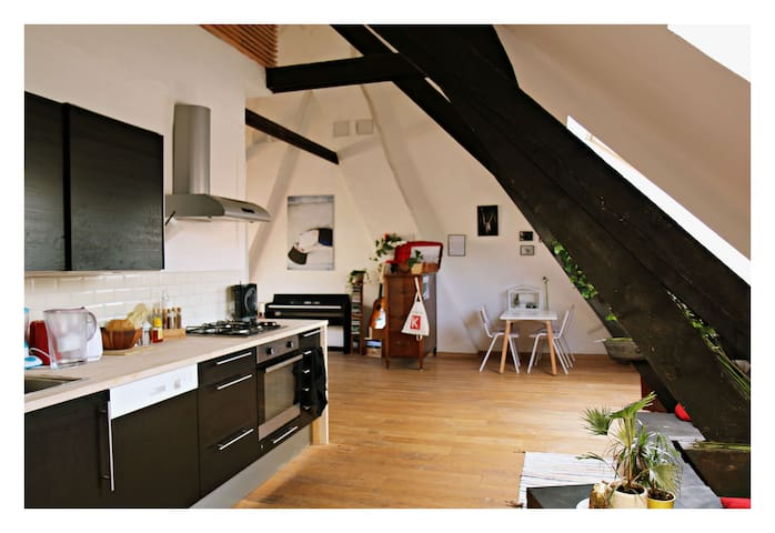 Duplex apartment in the center of Antwerp - Antwerpen - Apartemen