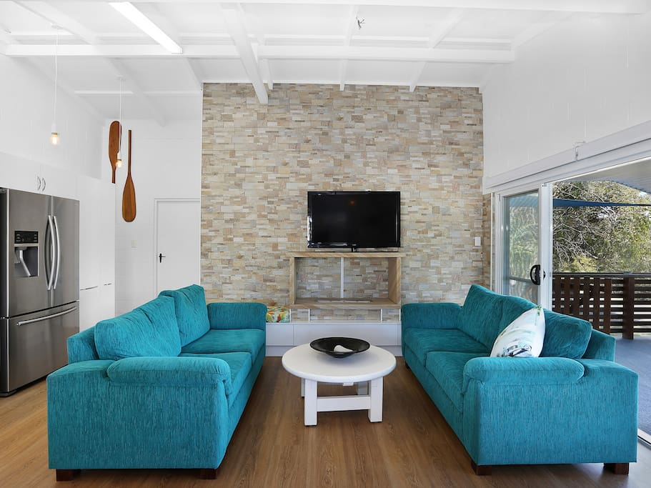 Lounge and sandstone fire