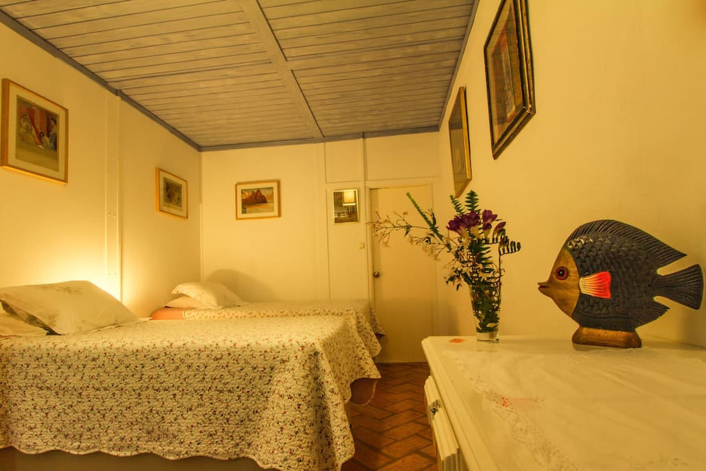 Simple & clean, our twin -bedded room