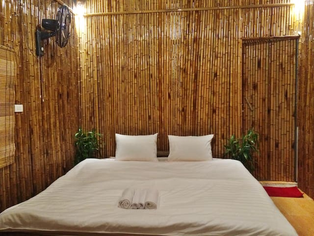 Bamboo double room front  mountain view