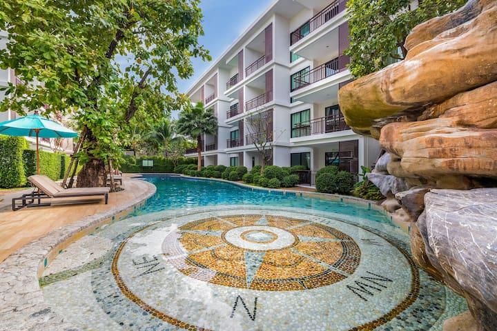 Pool & Garden View 1 Bedroom Apartment@Rawai - 50m