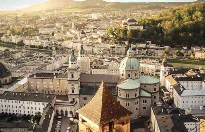 moderne sonnige Wohnung über den Dächern Salzburg