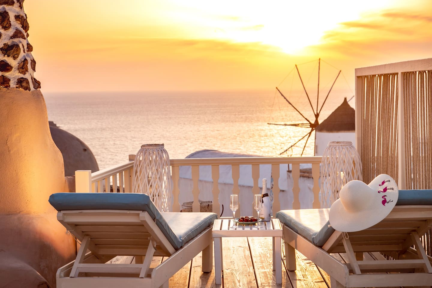 The amazing sunset view from the terrace