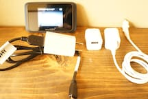Free use wi-fi &cell phone charger. High speed & Limitless!