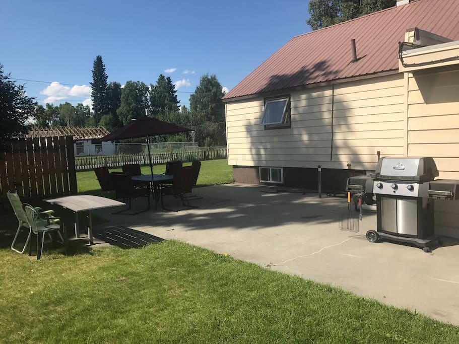 Fire pit and BBQ available for use