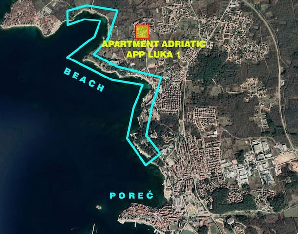 App Luka 1 - FAP A4 (2+2) one bedroom, for max 4 pax, Green Garden for Children and Pets, close to beach / One-Bedroom Apartment