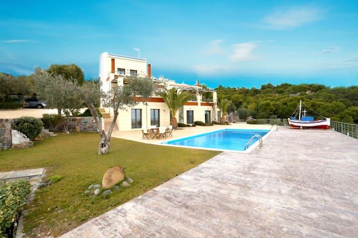 Aegina Aphaia Villas I&II w pool, near Agia Marina - Kavos - Villa