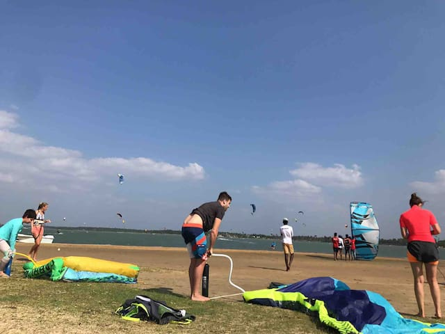 Kiting on your doorstep