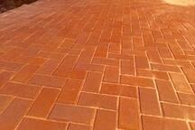Brick pavers private entrance
