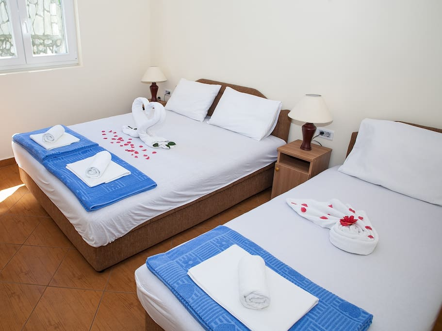 Bedroom (one double and one single bed)