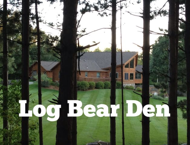 LOG BEAR DEN near SJU, CSB & Wobegon Trail