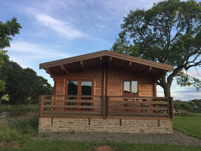 Redwood Lodge nestled amongst Shropshire Hills