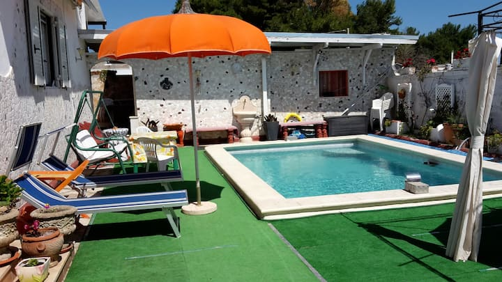 House with 2 bedrooms in Porto Cesareo (Lecce), with shared pool, furnished garden and WiFi