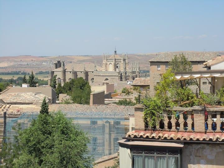 Fantástico Torreón con vistas  a Toledo.