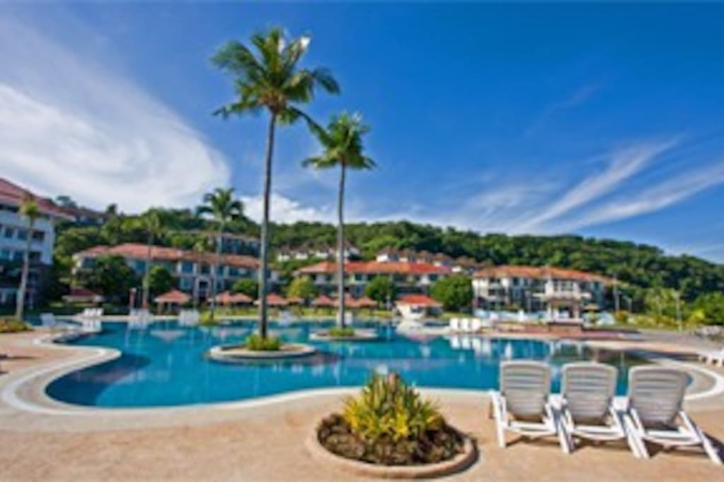 The resort will charge php350/head/stay for adults and php150/head/stay for children 4-11 years old to use the pool
