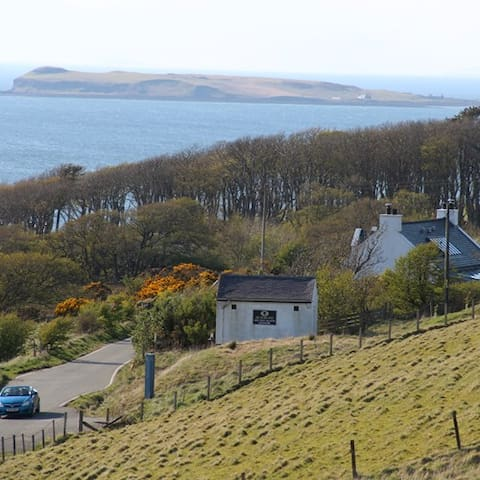 going out of Locchbay hamlet you come to Skye Skins. Now they have yurts and make tea & cakes
