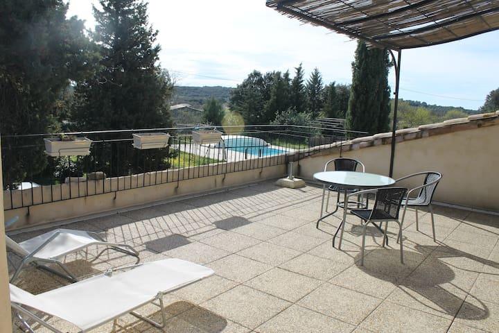 duplex avec piscine en provence - Solérieux - Pis