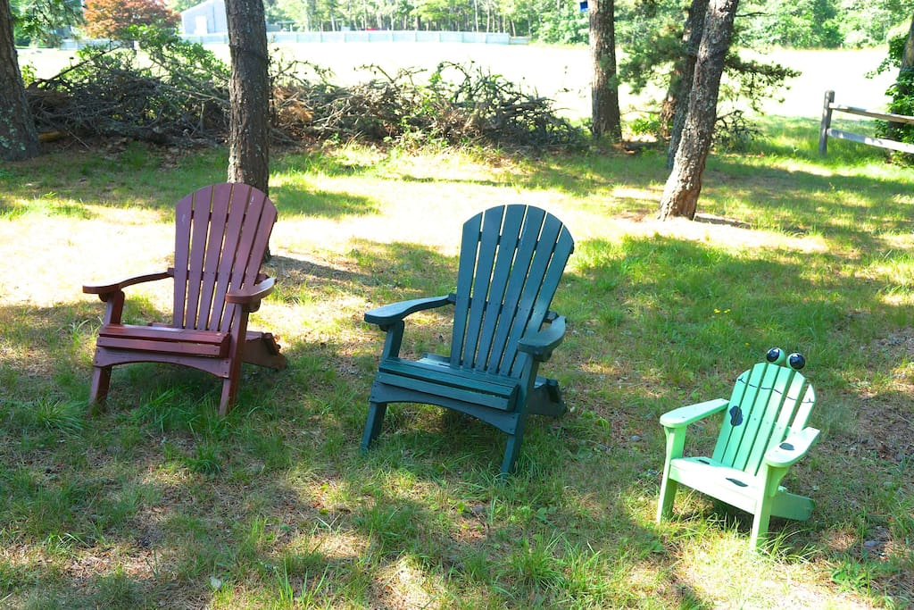Big back  yard with picnic table, chairs, grill and ocean breeze.