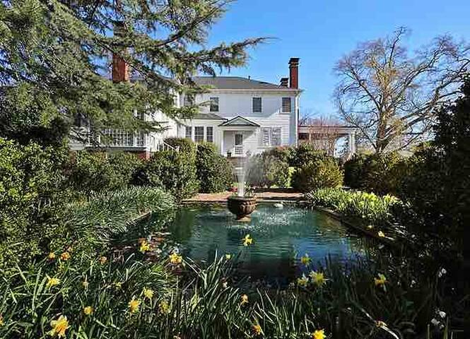 The Lily Pond at The James House Inn, a circa 1921 B&B
